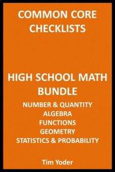 Common Core Checklists – High School Math Bundle – All Five Areas
