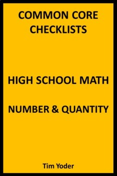 Common Core Checklists – High School Math – Number & Quantity