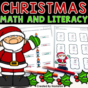Common Core Christmas Math and Literacy Second Grade