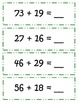 Common Core Christmas Tree Double Digit Addition w/ REGROUPING