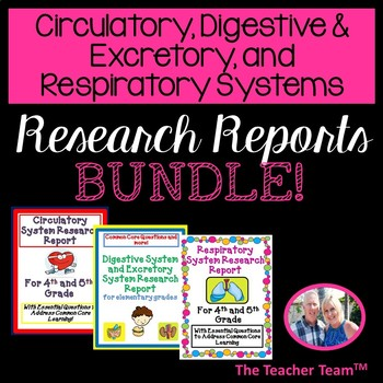 Circulatory, Digestive, Respiratory Systems Research Repor