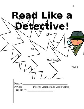 Common Core Citing Evidence About Video Games Project