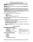 Common Core: Citing Textual Evidence (Lesson Plans, Studen