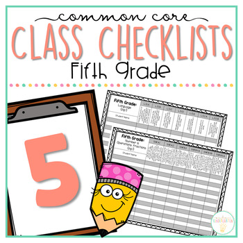 Common Core Class Checklist: Fifth Grade Bundle