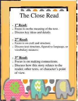 Common Core Close Read 101