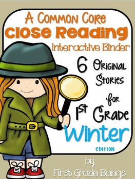 Common Core Close Reading Interactive Binder for Winter 1st Grade