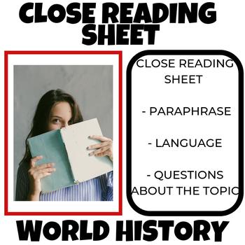 Close Reading Sheet