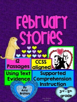 Common Core Comprehension -  Using Text Evidence from Febr