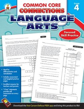Common Core Connections Language Arts Grade 4 SALE 20% OFF