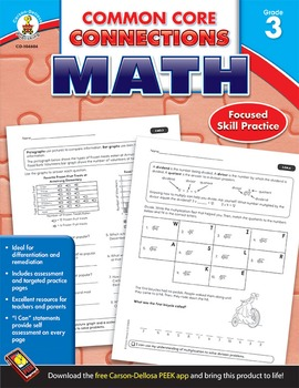 Common Core Connections Math Grade 3 SALE 20% OFF! 104604