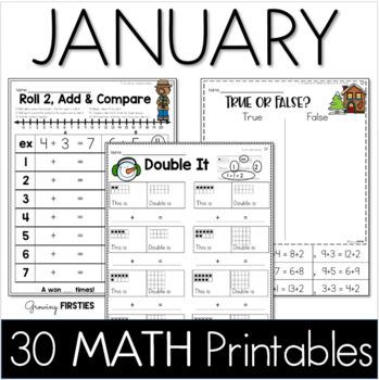 Common Core Crunch - January - MATH - CCSS Printables - Gr