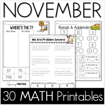 Common Core Crunch - November - MATH - CCSS Printables - G