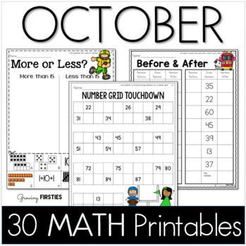 Common Core Crunch - October - MATH - CCSS Printables - Gr