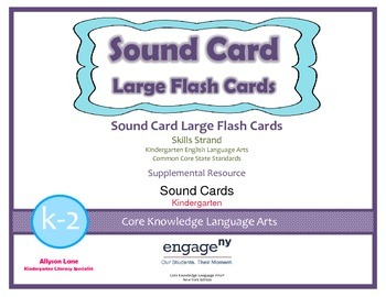 Common Core Curriculum Large Sound Card Flash Cards, Grade