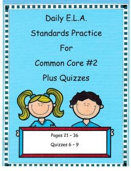DOL Morning Work Comm. Core Dailies ELA.#2 Plus Quizzes!!