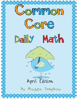 Common Core Daily Math April Edition