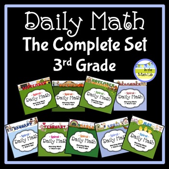 Morning Work Daily Math for 3rd Grade: The Complete Set