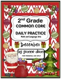 Common Core Daily Practice Worksheets for Second Grade (December)
