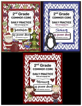 Common Core Daily Practice Worksheets for Second Grade (Wi