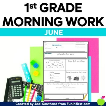 Common Core Differentiated Morning Work for June