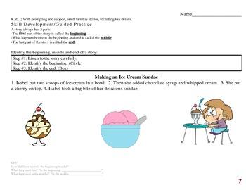 Common Core EDI Kinder RL.K.2 retell stories, including ke