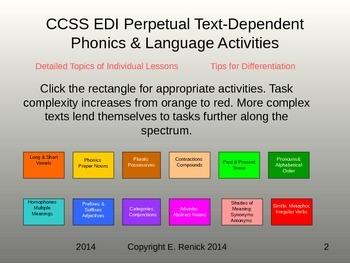 Common Core EDI Perpetual Text-Dependent Authentic Phonics