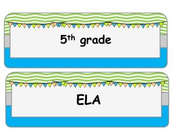 CCSS ELA AND Math BUNDLE I can statements 5th grade