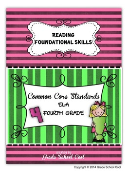 Common Core ELA Assessments Grade 4 (Reading Foundational Skills)