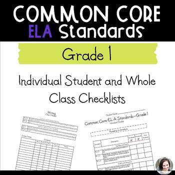 Common Core ELA Checklists - Grade 1