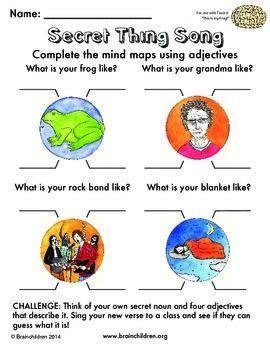 Common Core ELA Conventions Adjective Graphic Organizer