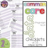 Common Core ELA Data Checklist {2nd Grade}