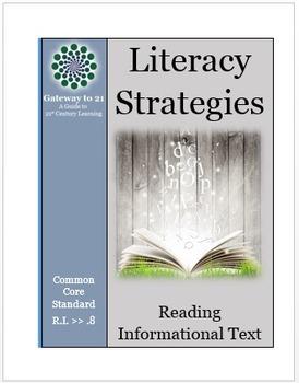 Common Core Literacy Strategies/Centers (CCSS.ELA-RI.>>8)