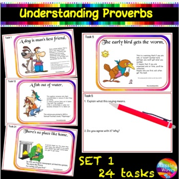 Sayings and Phrases CC Kinder & Yr1 - Proverbs Anchor Shee