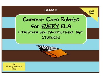 Common Core ELA Rubrics:  Grade 3