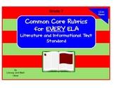 Common Core ELA Rubrics:  Grade 7