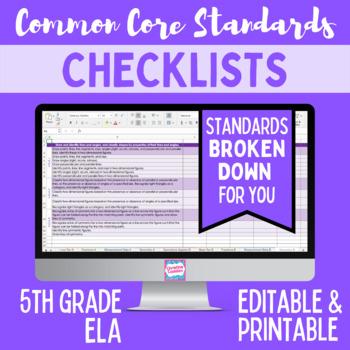 Common Core Checklist - Fifth Grade ELA