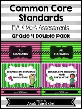 Common Core ELA and Math Assessments Grade 4 (DOUBLE PACK)