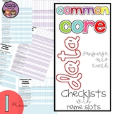 Common Core ELA and Math Data Checklist {1st Grade}