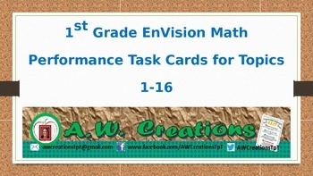 Common Core EnVision Math First Grade Topics 1-16 Performa