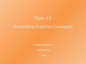 Common Core EnVision Math Fourth Grade Topic 13 Review PowerPoint