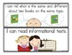 """Common Core English Language Arts: """"I Can"""" Statements for"""