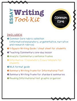 Common Core Essay Writing ToolKit