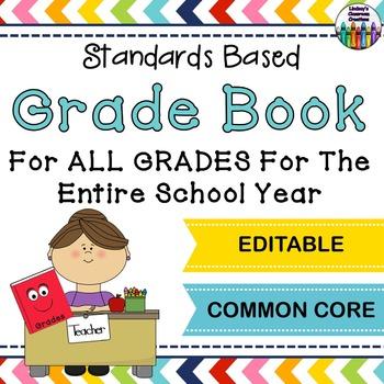Grade Book - EDITABLE -  ANY Grade Level! All Subjects! Co