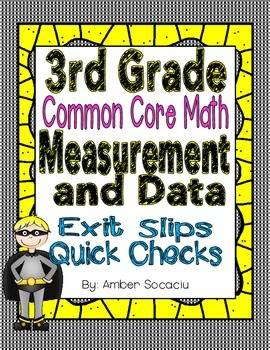 Common Core Exit Slips/Quick Checks for 3rd Grade Measurem