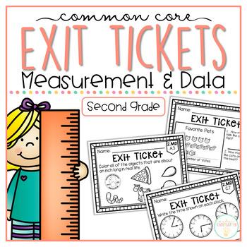 Common Core Exit Tickets: Second Grade Measurement & Data