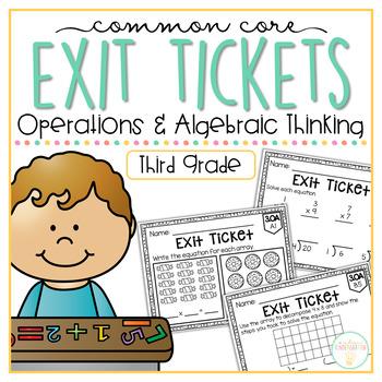 Common Core Exit Tickets: Third Grade Operations & Algebra