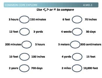 Common Core Explore 4.md.1 converting units