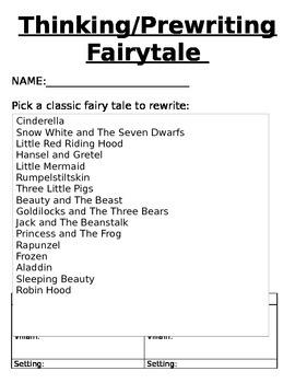 Common Core Fairy Tale Writer's Workshop