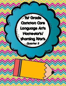 Common Core First Grade Language Arts Homework-3rd Quarter
