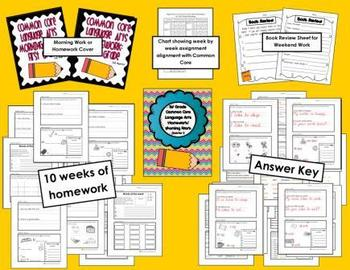 Common Core First Grade Language Arts and Math Homework-2n